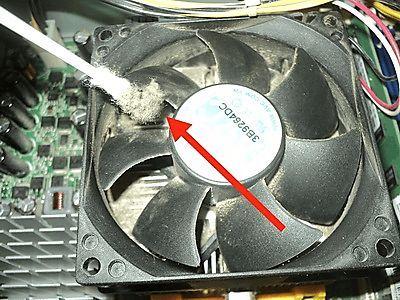 пыль в радиаторе процессора