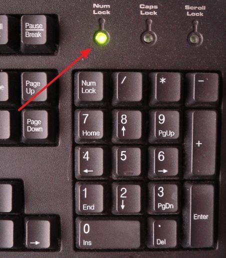 индикатор Num Lock
