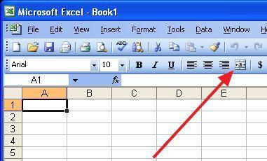кнопка для объединения ячеек в Word 2003
