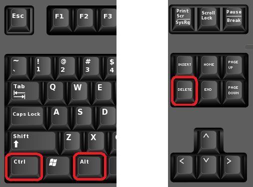 используем комбинацию клавиш CTRL-ALT-DEL