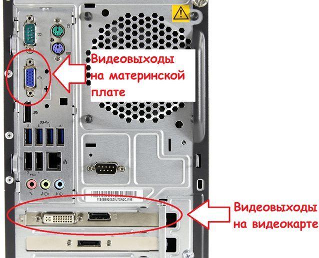 задняя панель вашего компьютера
