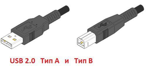 USB кабель для подключения принтера к компьютеру