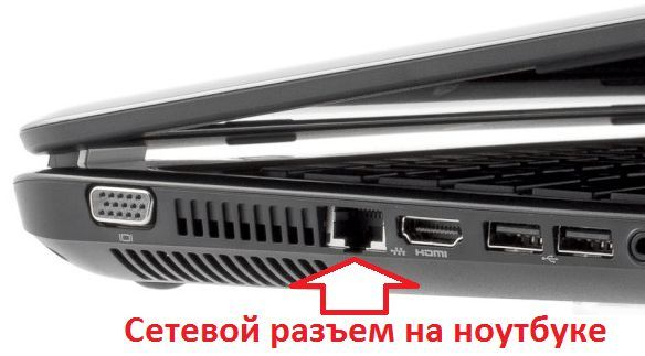 сетевой разъем на ноутбуке