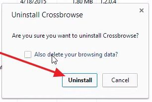 Удалите Crossbrowser