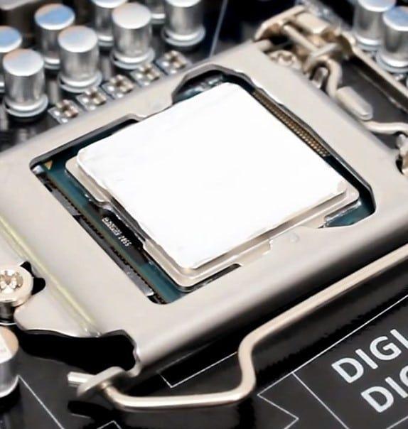 распределение термопасты по процессору