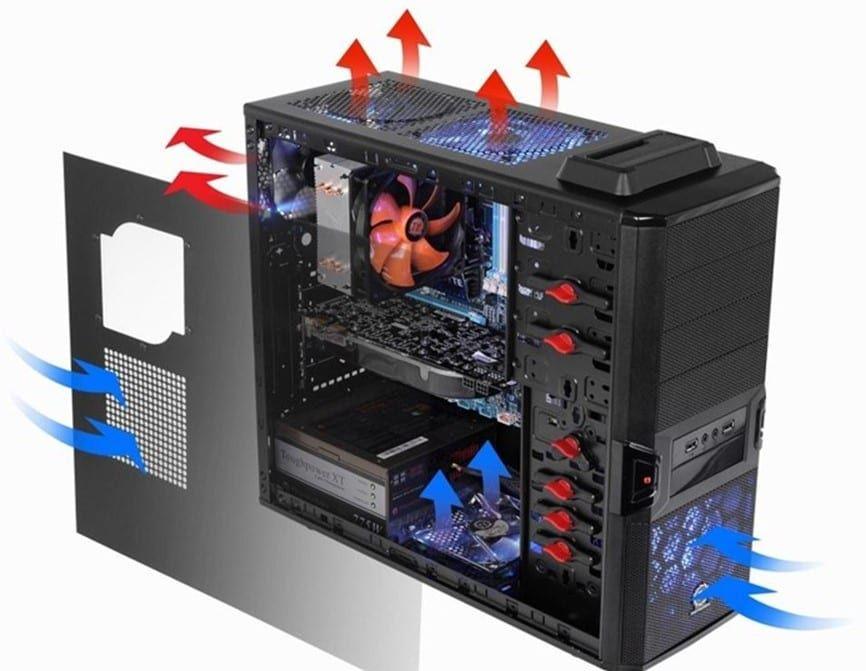 воздух внутри компьютера