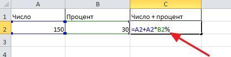 еще одна формула для прибавления процента