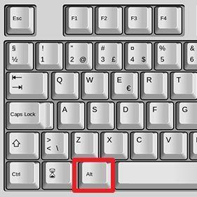 клавиша ALT