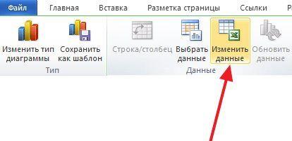 нажмите на кнопку Изменить данные
