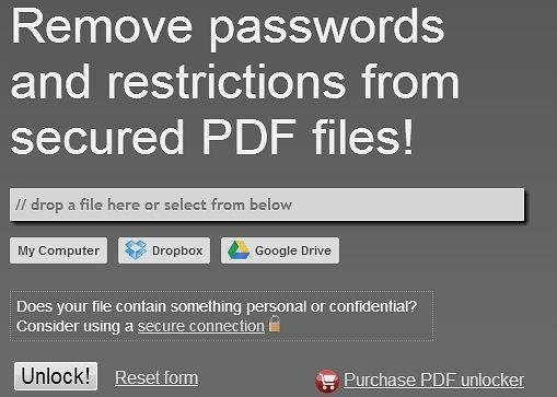 Как снять защиту с PDF с помощью онлайн сервиса