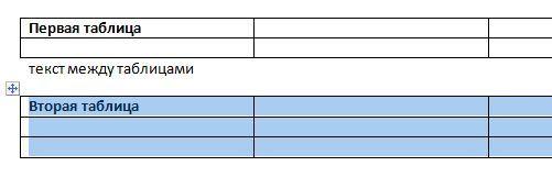 две таблицы с данными