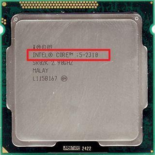 название модели на корпусе процессора