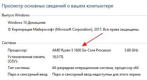 название процессора