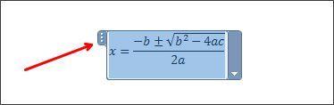 перемещаем формулу по документу Ворд