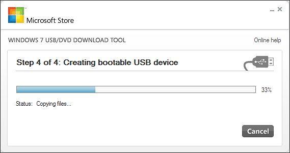 запись Windows 8 на флешку