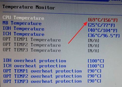 температура процессора в БИОС