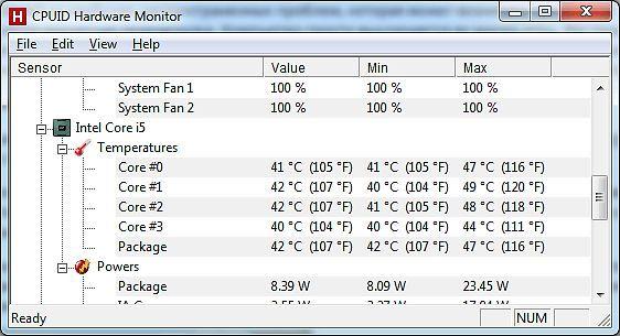 Компьютер выключается во время игры: программа hwmonitor