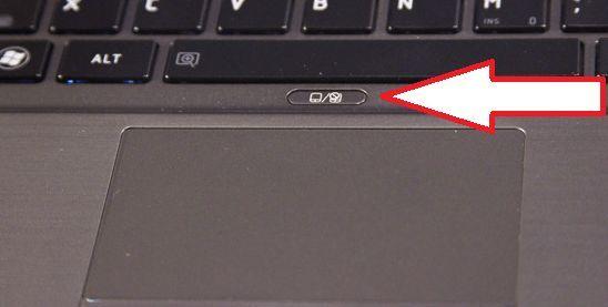 кнопка для отключения тачпада