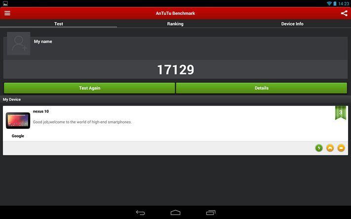 Скриншот AnTuTu из Nexus 10