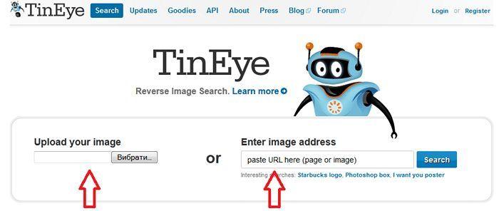 Поиск по картинке в TinEye.com
