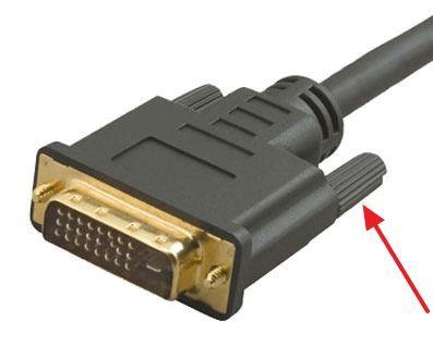 фиксатор на DVI кабеле