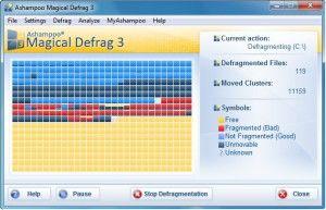Программа для дефрагментации Ashampoo Magical Defrag