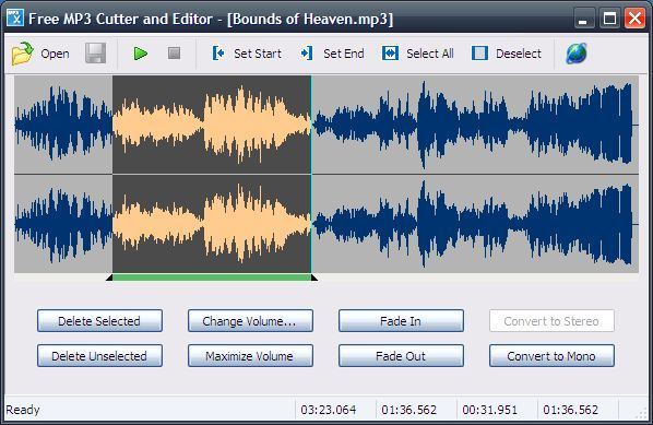 Программа для нарезки музыки: Free MP3 Cutter and Editor