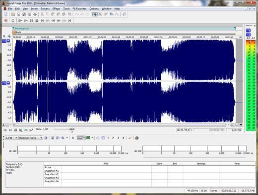 Программа для нарезки музыки: Sony Sound Forge Pro