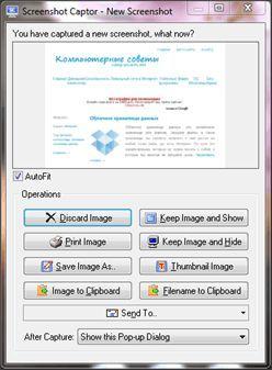 Программа для создания скриншотов Screenshot Captor