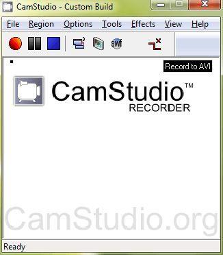 Программа для записи видео с экрана: CamStudio