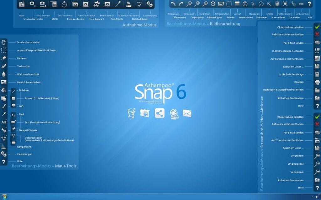Программа для записи видео с экрана: Ashampoo Snap